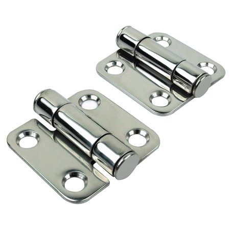 Seachoice Pair of 316 Stainless Steel Barrel Up Friction Hinges