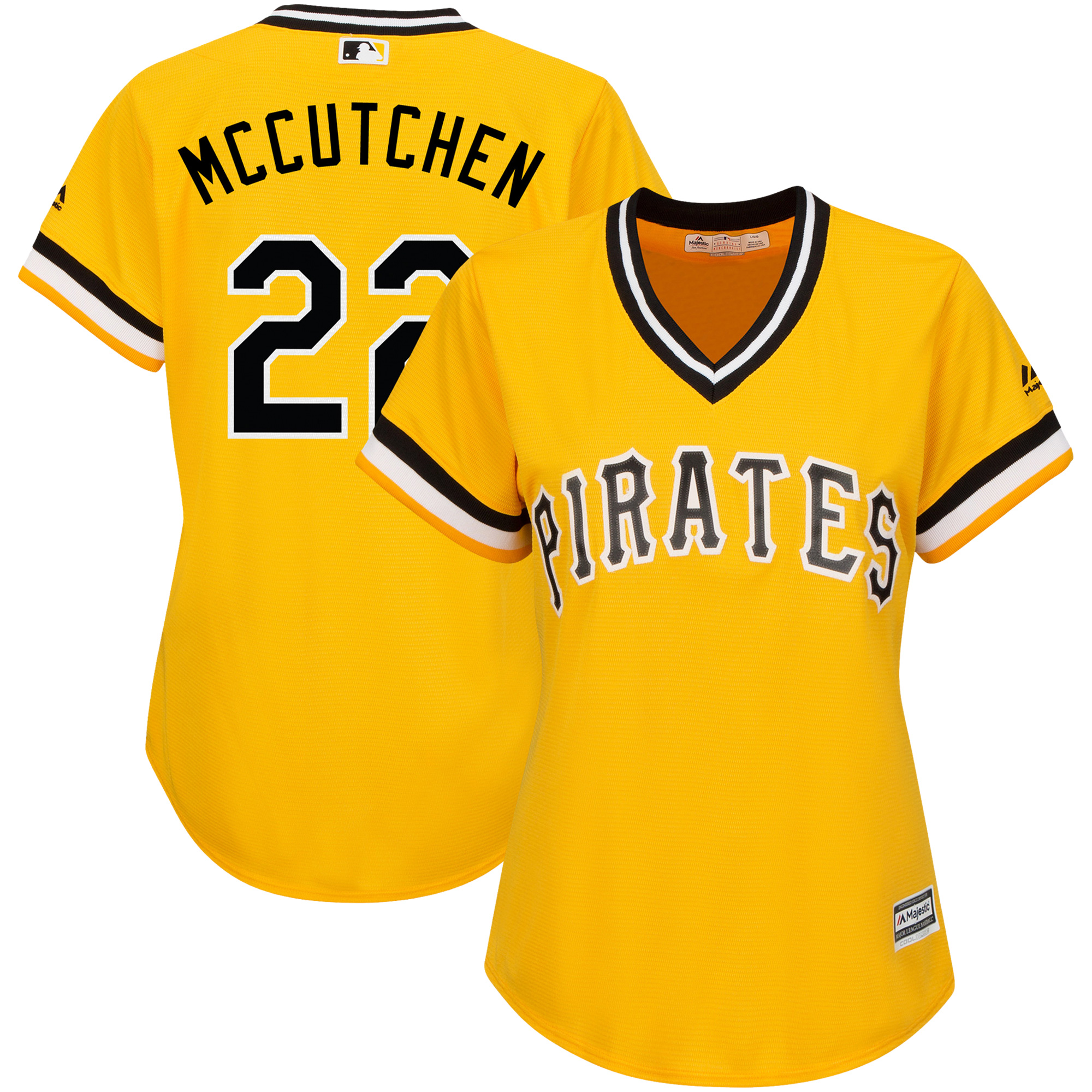 Andrew McCutchen Pittsburgh Pirates Majestic Women's Alternate Cool Base Player Jersey - Gold