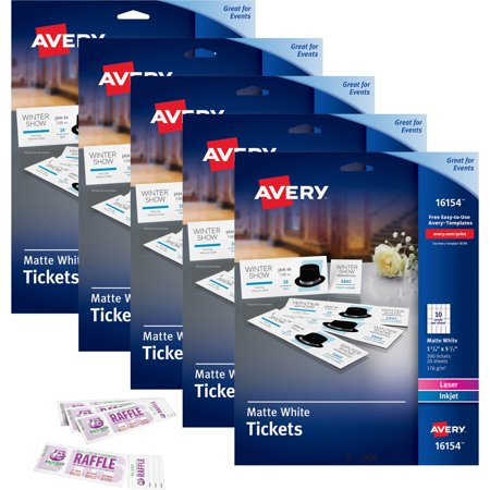 Dynamite image with regard to avery printable tickets