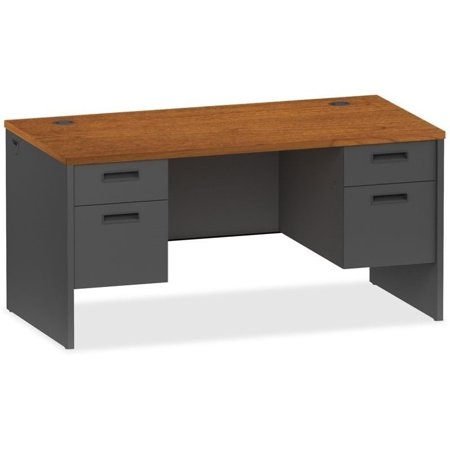 Lorell Cherry Charcoal Modular Desk Furniture