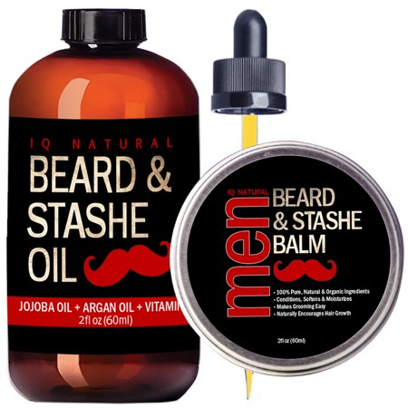 Men Core (Beard Oil and Beard Balm Kit for Men Care - Leave in Beard Conditioner, Heavy Duty Beard Wax, Mustache Butter & Softener Gift set - for Styling, Shaping, Grooming & Growth )