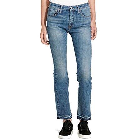 Denim & Supply Ralph Lauren Womens Madison High Rise Cropped Jeans Blue