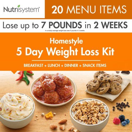Nutrisystem 5 Day Homestyle Weight Loss Kit, 4.5 lbs, 15 Meals and 5