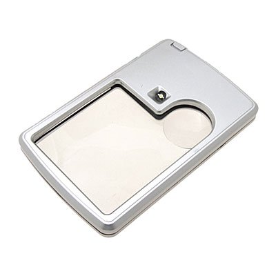3X 6X White Illuminated Card Pocket Magnifier Magnifying Glass