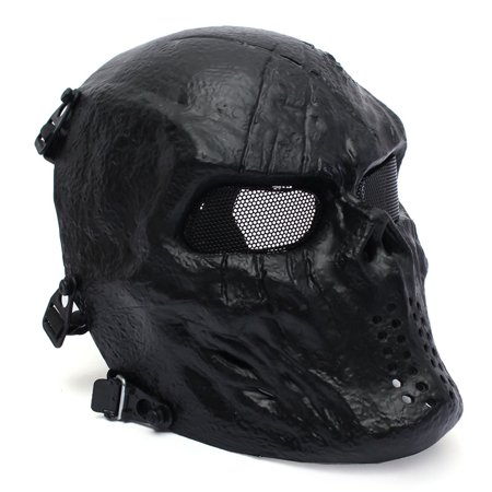 - Elfeland Tactical Gear Airsoft Mask Overhead Skull Skeleton Safety Guard Face Protection Outdoor Paintball Hunting Cs War Game Combat Protect for Party Movie Props Sports Activity