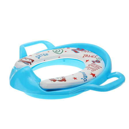 Potty Training Toilet Seat Thick Comfortable Soft Padded Baby Toddler Kids Child