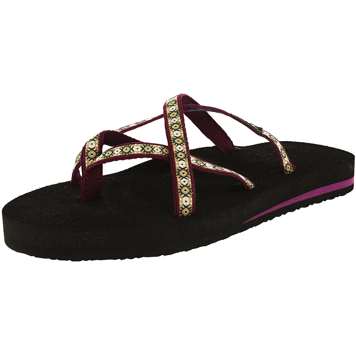 Teva Women's Olowahu Lola Dark Purple Ankle-High Polyester Sandal - 6M