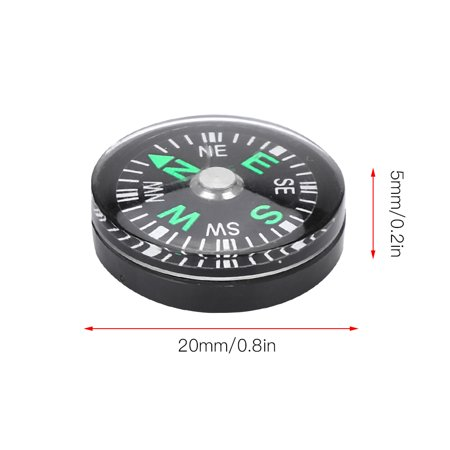 Noref 20mm 12pcs Mini Pocket Oil Filled Compass for Hiking Camping Outdoor Activities Accessory, Pocket Compass, Compass