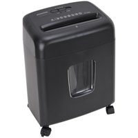 Pen + Gear 10 Sheet Cross-Cut Shredder, 4-Gallon Collection Bin, Black
