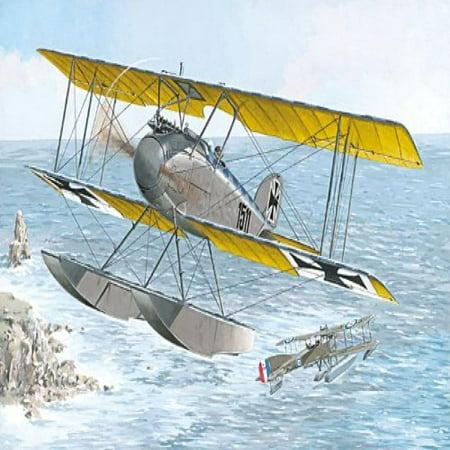 Outlaw Late Models (Roden Albatros W4 Late German Floatplane Fighter Airplane Model Kit )
