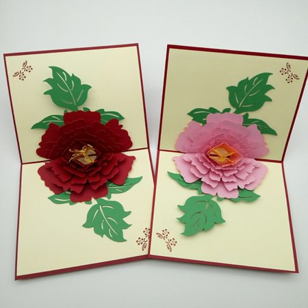 Enjoy 3d flower plant pop up handmade merry christmas greeting card this button opens a dialog that displays additional images for this product with the option to zoom in or out m4hsunfo