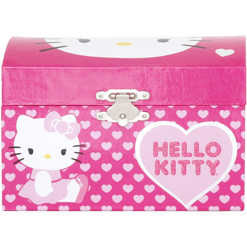 Hello Kitty Musical Jewelry Box Dark Pink Walmartcom