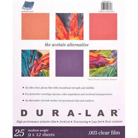 """Grafix - Clear Dura-Lar Pad - .003 - 11"""" x 14"""""""