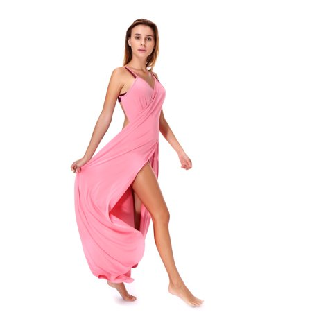 e6e028b04a7 Lelinta - LELINTA Women's Oversize Sexy Spaghetti Strap Beach Long Dress  Bikini Wrap Backless Swimwear Swimsuit Mate Plus Size Cover Up Open Back  L/5XL ...