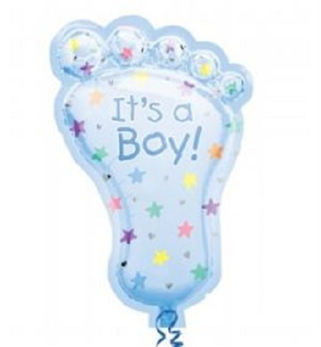 Anagram Its a Boy Foot Mylar Balloon - 23 x 32 Multi-Colored