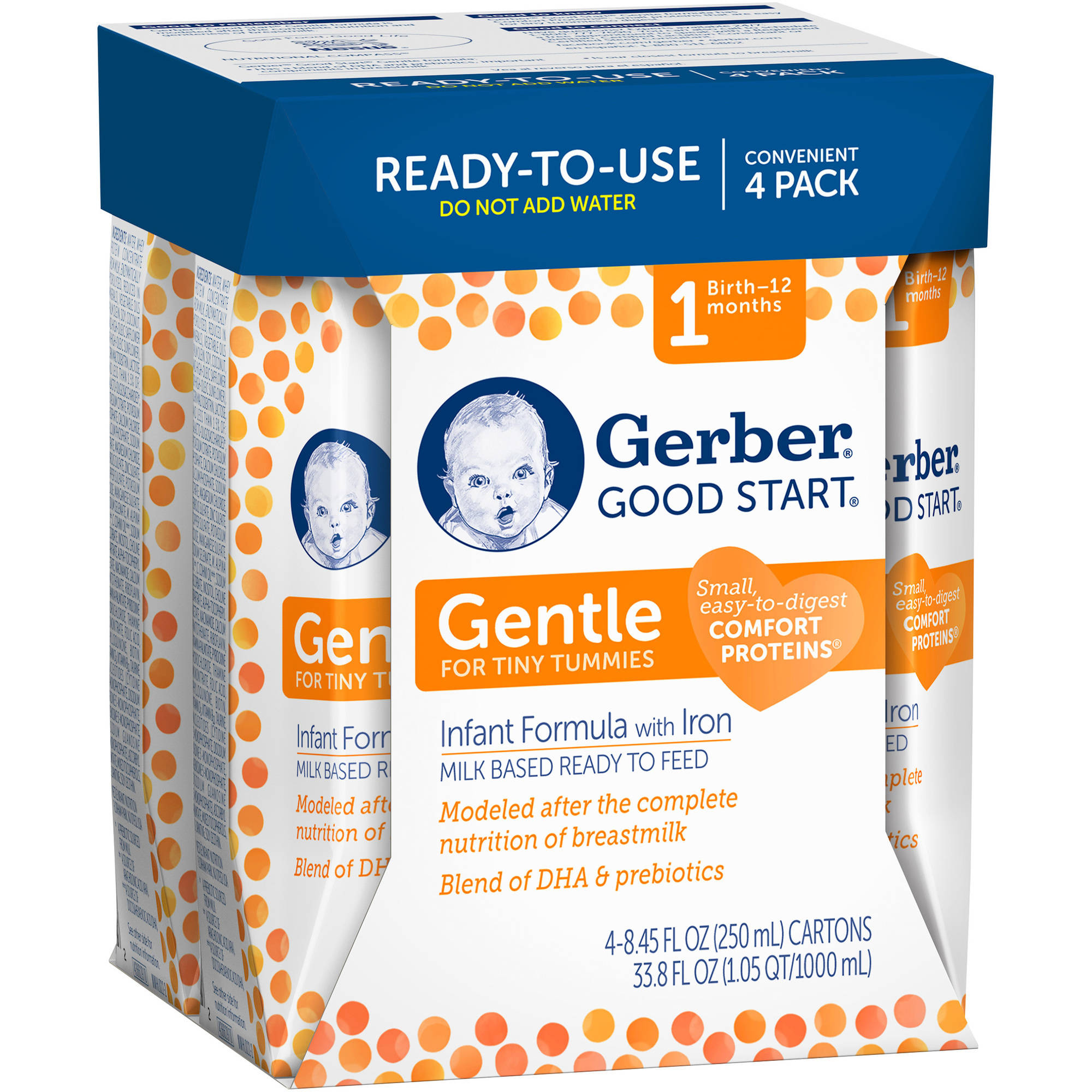 Gerber® Good Start® Gentle Ready to Feed Infant Formula, 8.45 Ounce, 4 Pack