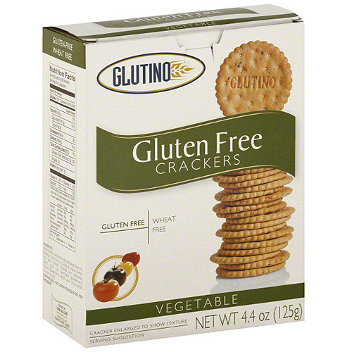 Glutino Gluten Free Vegetable Crackers, 4.4 oz (Pack of 6)