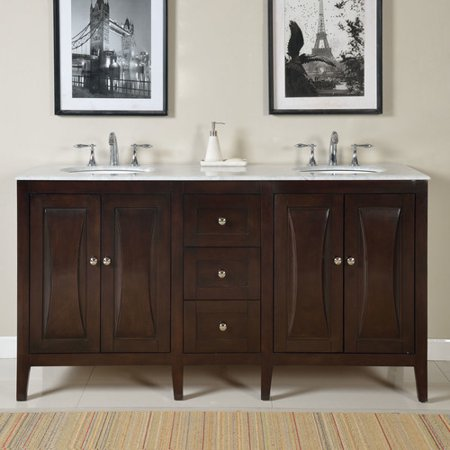 Silkroad Exclusive 68 Double Bathroom Vanity Set