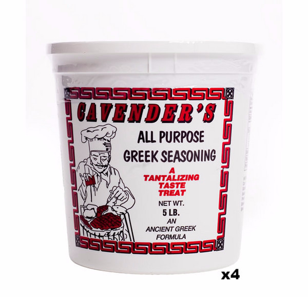 Cavenders All Purpose Greek Seasoning, CASE, 4x5lb