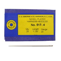 C.S. Osborne Pack Of 25 Harness Needles #517 (517-4) Size 4 Made In USA