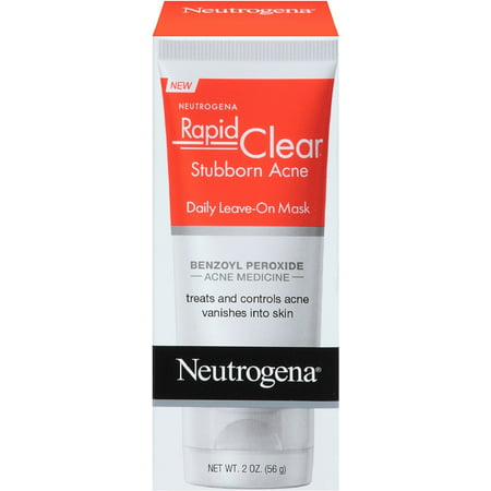 Neutrogena Rapid Clear Stubborn Acne Daily Leave-On Mask 2 oz (Pack of 3)