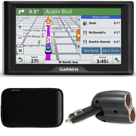 Garmin Drive 50Lm Gps Navigator Lifetime Maps  Us  010 01532 0C Case   Charger Bundle Includes Gps  5 Inch Soft Case And Dual 12V Car Charger