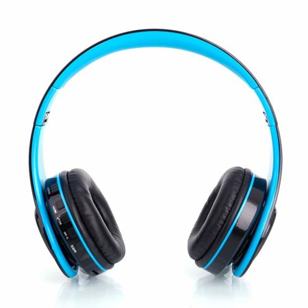 Clearance Hy 812 Fold Wireless Head Wear Type Bluetooth V3 0 Edr Stereo Sport Bluetooth Headset Black Blue Walmart Com