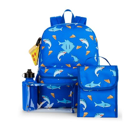 Wonder Nation 5 Piece Backpack Set