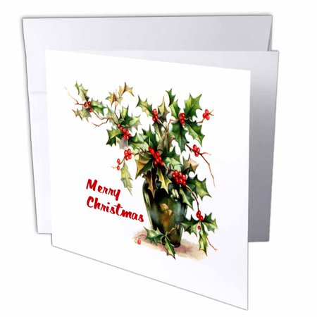 3drose holly leaves merry christmas greeting cards 6 x 6 inches 3drose holly leaves merry christmas greeting cards 6 x 6 inches set of m4hsunfo