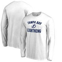 Tampa Bay Lightning Fanatics Branded Big & Tall Victory Arch Long Sleeve T-Shirt - White