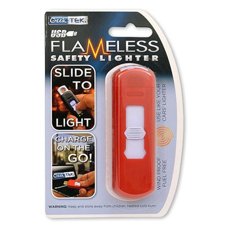Flameless Electric Safety Lighter USB Rechargeable By Geek Tek