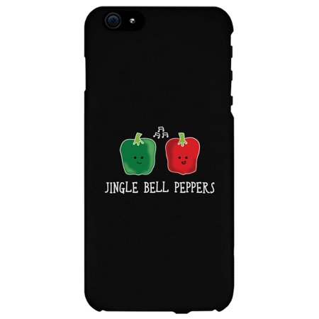 Jingle Bell Peppers Cool BLACK Phone Case Holiday Gift