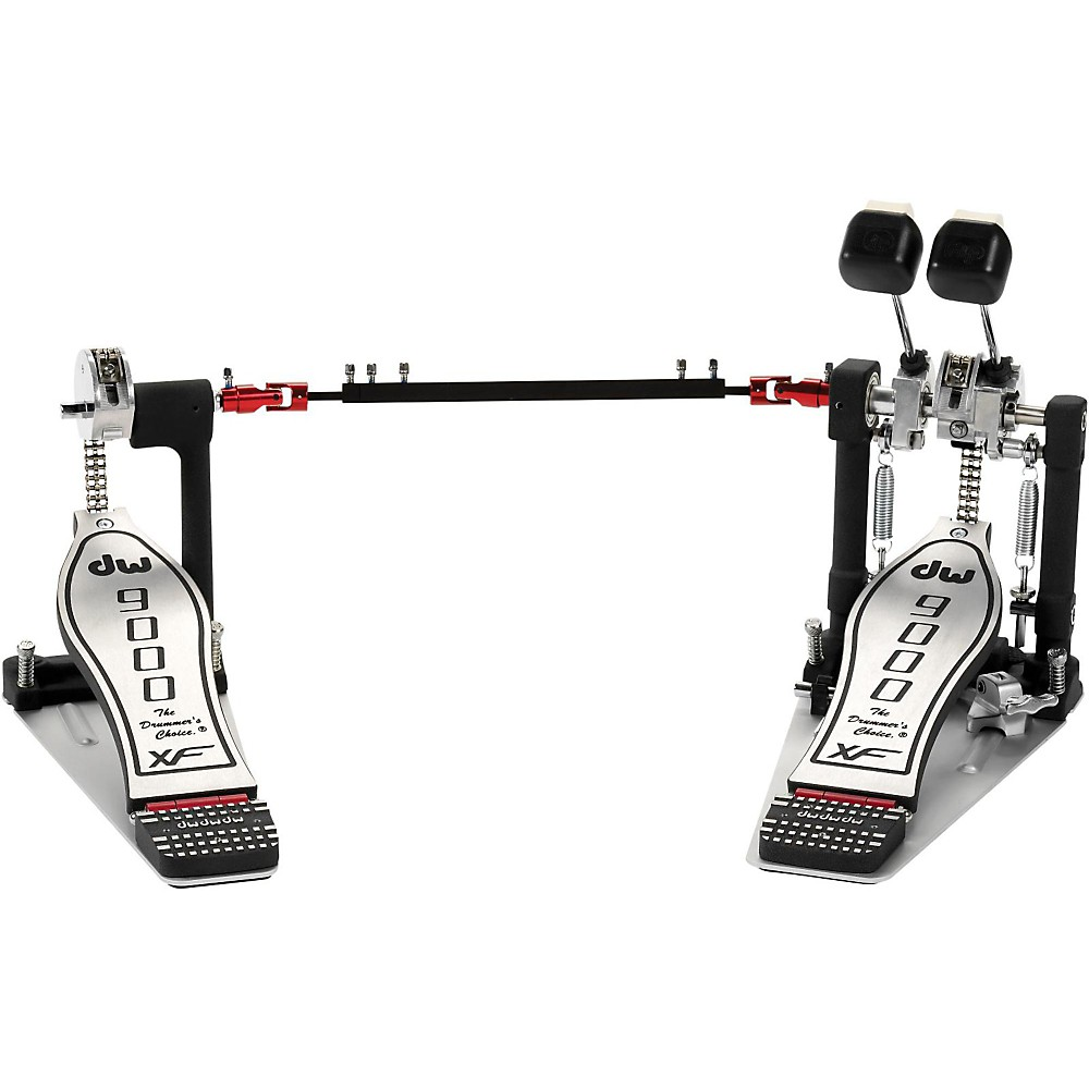 DW 9000 Series Double Bass Drum Pedal with eXtended Footboard by DW