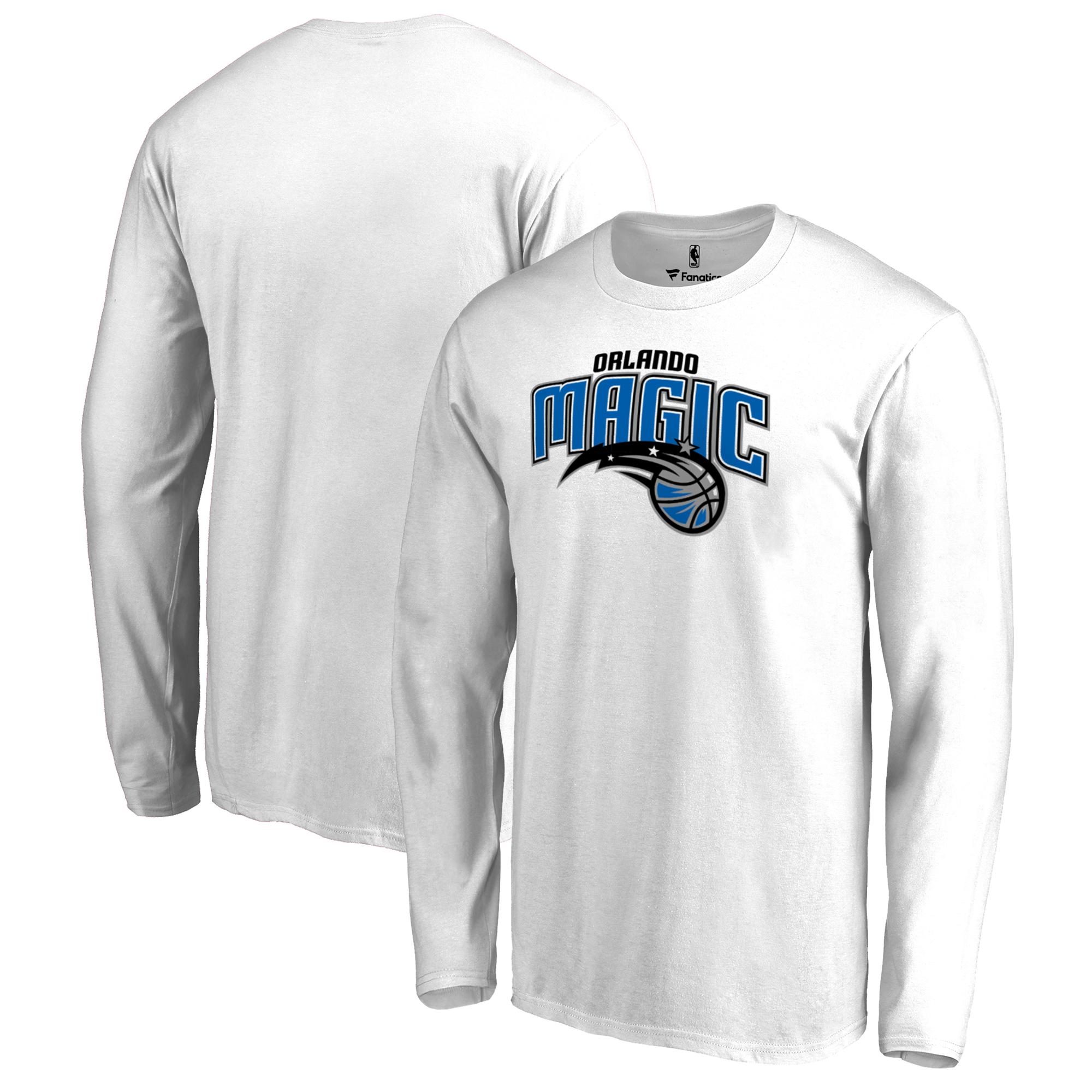 Orlando Magic Fanatics Branded Big & Tall Team Primary Logo Long Sleeve T-Shirt - White