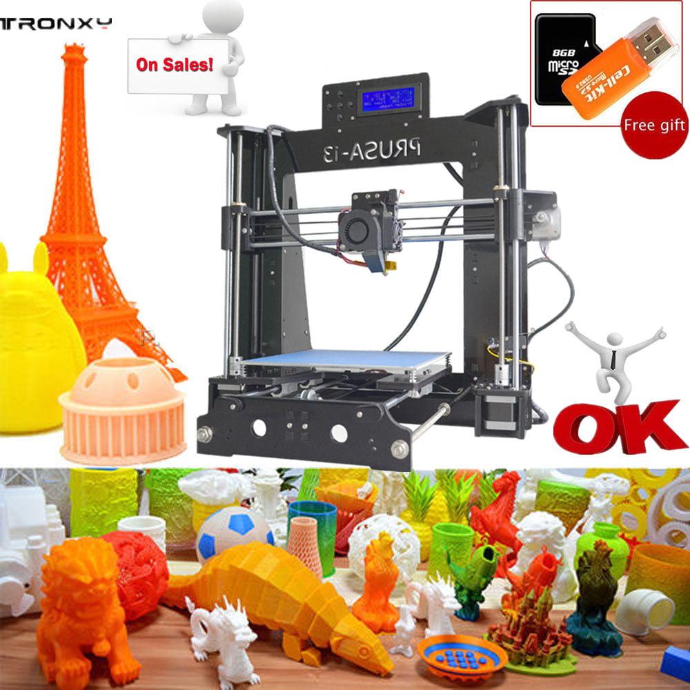 3D Printer,TRONXY P802D LCD Screen 3D Printer Large Printing Area 220*220*180mm Black