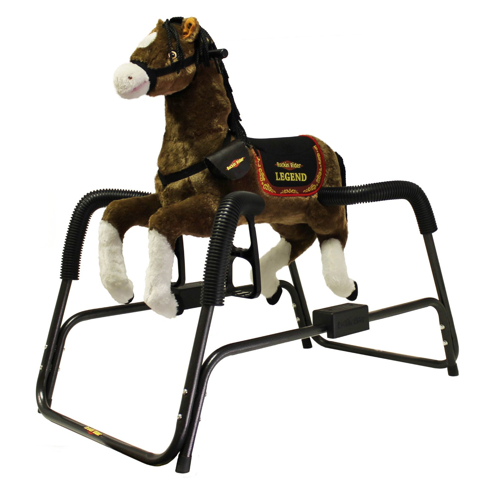 Rockin Rider Legend the Deluxe Talking Plush Spring Horse with