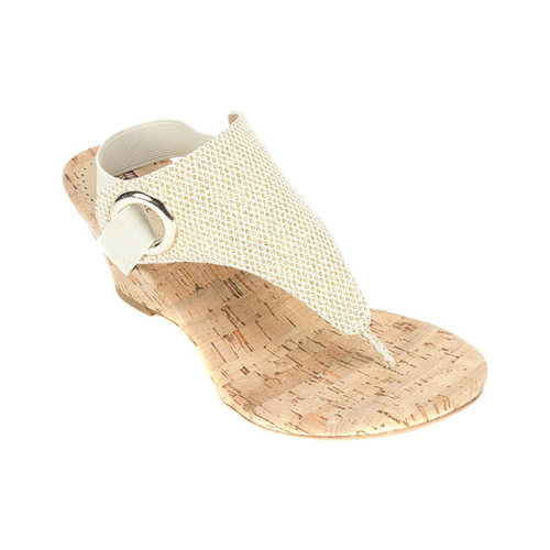 White Mountain Women S White Mountain Aida Thong Wedge