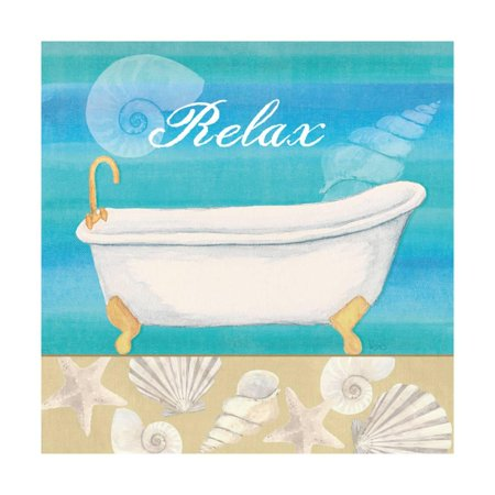 Seashells Bath I Print Wall Art