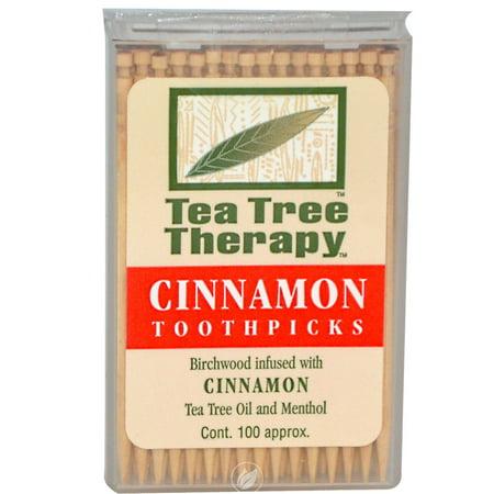 Tea Tree Therapy, Inc Toothpicks Cinnamon 100 Ct, Pack of 2
