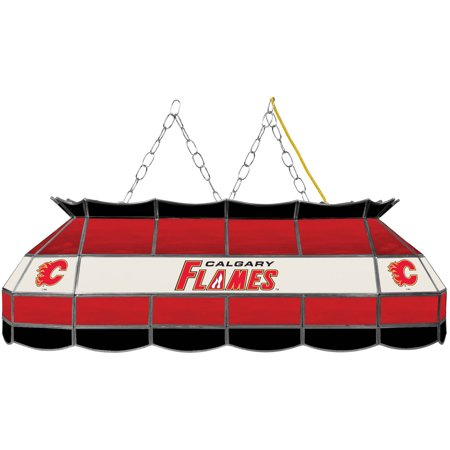 "NHL Handmade Tiffany Style Lamp, 40"", Calgary Flames by"