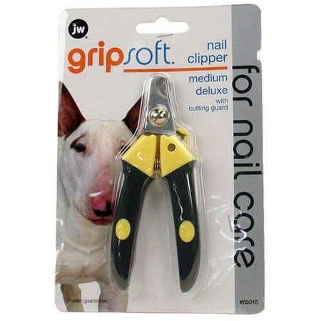 JW Pet Grip Soft Dog Deluxe Nail Clipper, Medium