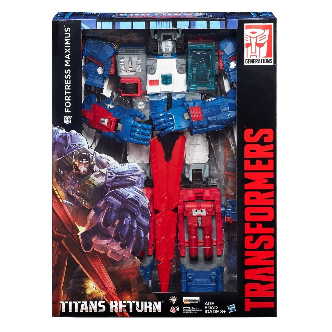 Transformers Titans Fortress Maximus 2016 SDCC Exclusive with Shipper by Takara