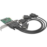 Tripp Lite 4-Port DB9 (RS-232) Serial PCIe Card w/ Breakout Cable, Full Profile