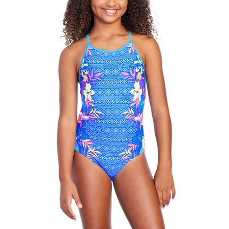 5ef5dcfa920a7 Wonder Nation - Girls' Pineapple Tropics Fashion 1 Piece Swimsuit -  Walmart.com