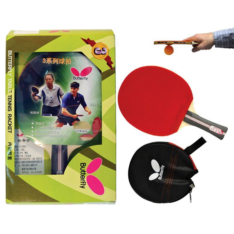 Butterfly 302 Shakehand Ping Pong Racket by Butterfly