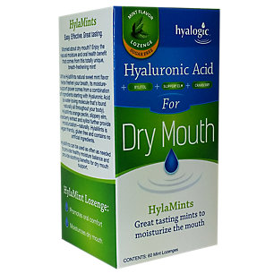 Hyaluronic Acid for Dry Mouth by Hyalogic - 60 Lozenges