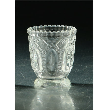 Clear Vintage Style Hand-blown Glass Votive or Tea Light Candle Holder 3