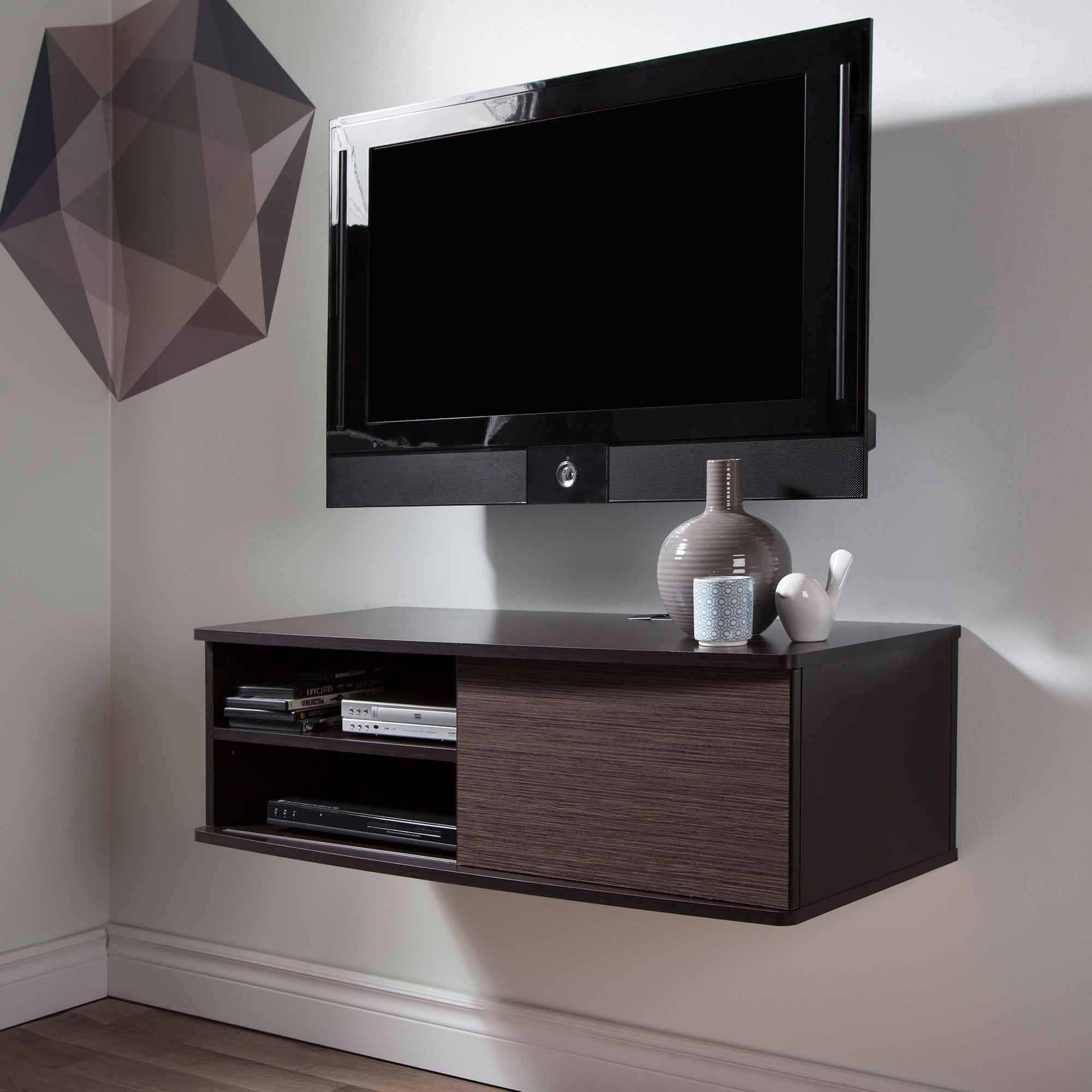 "South Shore Agora Wall-Mounted TV Stand for TVs up to 38"", Multiple Finishes"