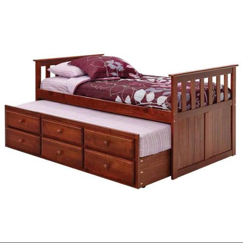 Twin Mission Style Captains Bed
