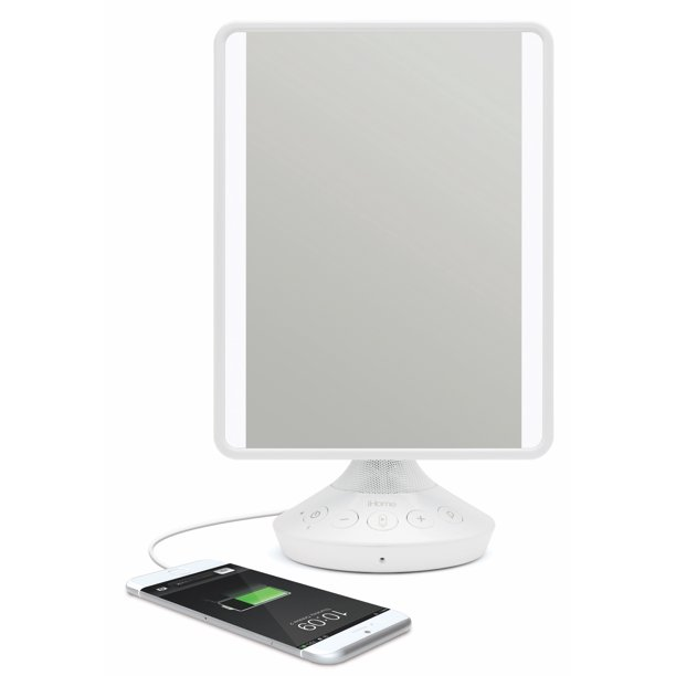 Usb Charging Flat Panel Led Lighting, Best Lighted Makeup Mirror With Bluetooth